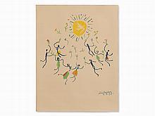 Pablo Picasso, La Ronde de l?amitié, Color Lithograph, 1959