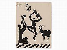 Pablo Picasso, after La Danse du Berger, Lithograph, 1959