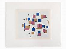 After Piet Mondrian, Composition en Bleu, Serigraph, 1950s