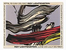 Roy Lichtenstein Exhibition Poster, Pasadena Art Museum, 1967