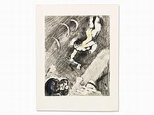 Marc Chagall, Etching, 'The Woodcutter and Mercury', 1927