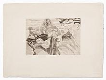 Jacques Villon, Etching, ?En Vacances sur les Rochers?, 1927