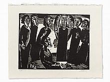 Karl Schmidt-Rottluff, Christus unter den Frauen, 1919