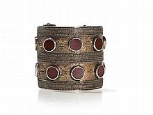 Gilt Silver Bracelet with Carnelians, Turkmenistan, 19th C