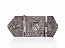 Engraved Silver Amulet Bracelet, Afghanistan, 20th Century