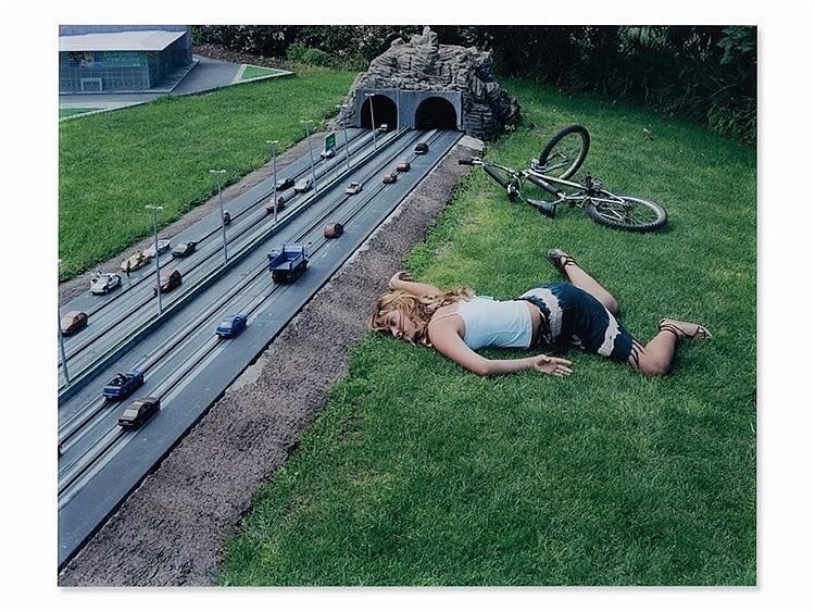 Julia Fullerton-Batten (born 1970), Bike Accident, Lambda, 2005