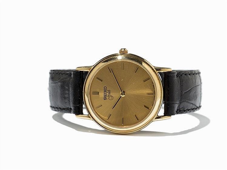 Seiko Gold Dress Wristwatch, 18K Gold-Plating, Japan, 1980s