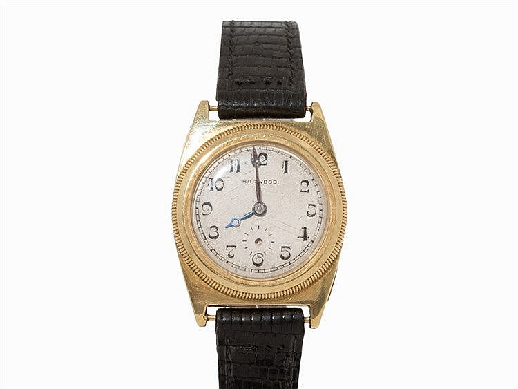 Harwood Vintage Gold Wristwatch, c. 1930