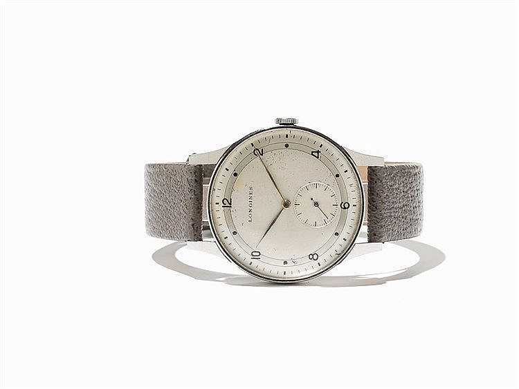 Longines Oversize Vintage Wristwatch, Switzerland, C. 1948