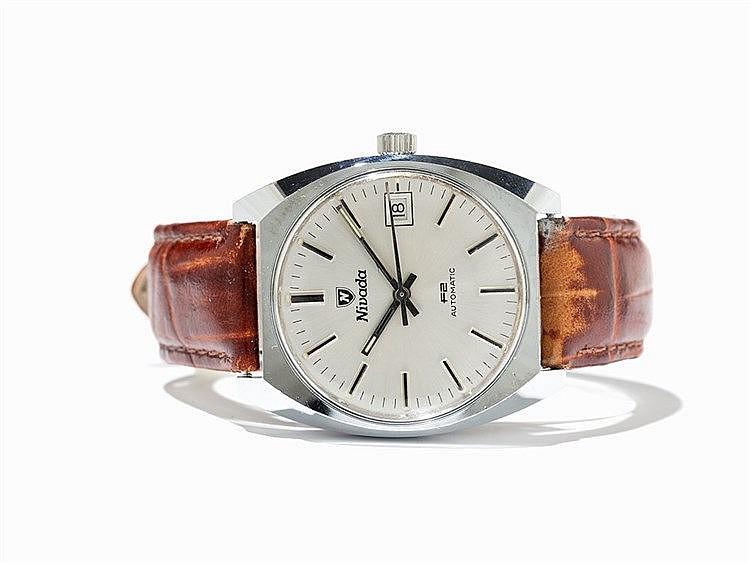 Nivada F2 Automatic Dress Wristwatch, Switzerland, 1960s