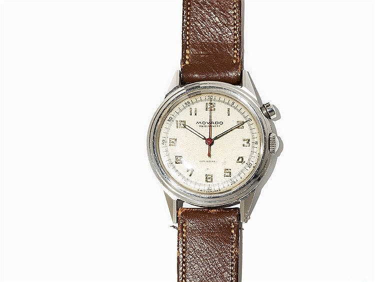 Movado Single Button Chronograph, c. 1945