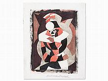 Lill Tschudi (1911-2004), Color Linocut 'Ash Wednesday', 1935