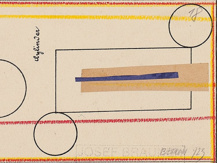Collage 'Cone/ Cylinder', Josef Brauner, Germany, 1923