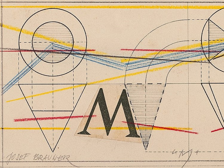 Collage 'M' by Josef Brauner, Germany, 1922
