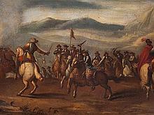 Ilario Spolverini, Circle of, Battle Scene of Cavalry, c. 1700