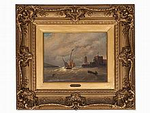 Oswald Achenbach (1827-1905), At the Coast, 1842