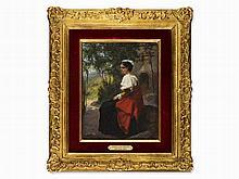 Sébastien Charles Giraud (1819-1892), On the Terrace, 19th C