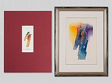 """Colour etching """"Les Sources"""" & portfolio """"Eden"""", F. Méan, 2000"""