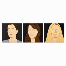 Alex Katz, Portraits Sara, Vivien & Sophie, 3 Serigraphs, 2012