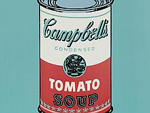 After Andy Warhol, 'Campbell's white-red ', Rosenthal, 2014