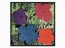 After Andy Warhol, 'Wandbild Flowers', Rosenthal, 2011