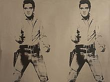 After Andy Warhol, Elvis Presley, Rosenthal, Wall Object, 2011