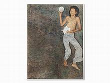 Attributed to Dede Eri Supria (b. 1956), Boy, Oil, 1976