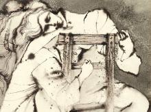 Gérard Morot-Sir, Mixed Media, Women on a Chair, around 1960
