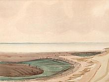 Fritz Kronenberg (1901-1960), Watercolor, 'Sylt', 1950s