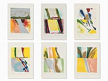 John Chamberlain, Flashback III-VIII, 6 Serigraphs, 1981