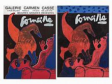 Corneille, Gouache and Exhibition Poster, 1970s