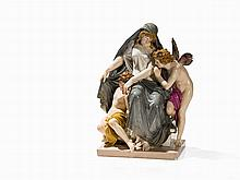 Allegory of the Night, Johannes Schilling, Meissen, after 1870