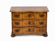 A Baroque Commode with Hunting Motif Marquetry, Germany, 18th C