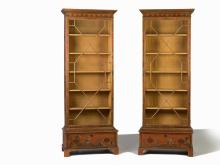 A Pair of Japanese Style Lacquered Bookcases, England, 19th C
