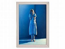 Gottfried Helnwein, Watercolor 'The Sacrilege', 1986