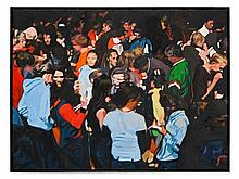 Pascal Danz, oil painting, 'Crowd/Demo1', 2005