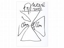 Jonathan Meese, Drawing 'Clan of Clan', 2012