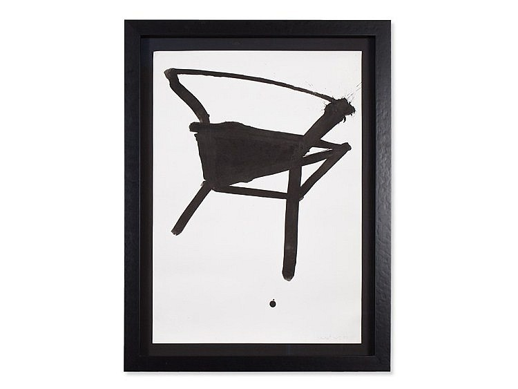 K.R.H. Sonderborg (1923-2008), Ink Drawing with Chair, 1993