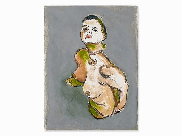 Norbert Tadeusz (1940-2011), Female Nude from above, 1993