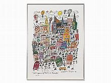 James Rizzi (1950-2011), 1200 Years of Rain in Münster, 1993