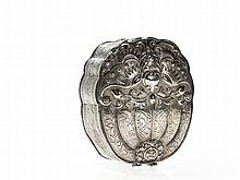 Chinese Export Silver Box and Cover by Dan Feng, early 20th C