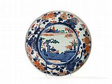 Imari Porcelain Plate with Landscape Scene, Japan, Edo, c. 1700