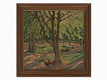 Carl Jörres (1872-1947), Forest Landscape, Oil, Germany, 1920s