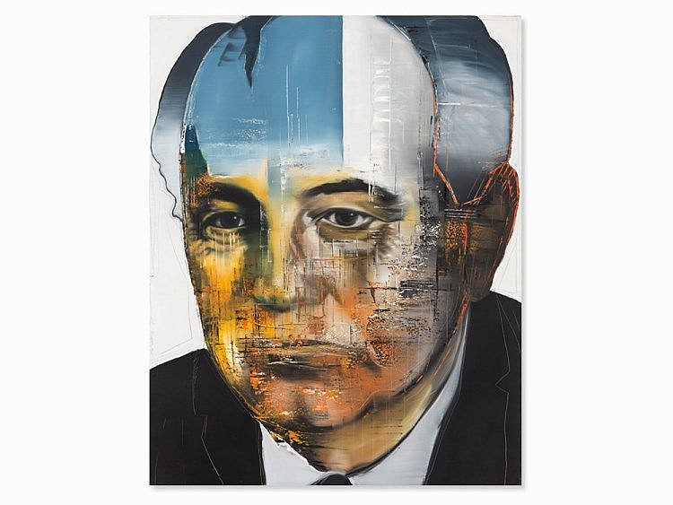Stephan Kaluza, Oil on Canvas, 'Michail Gorbachev', 1997