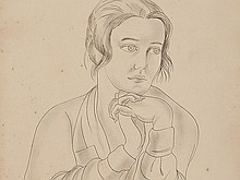 Tsuguharu Foujita, Ink drawing 'Female Portrait', around 1930