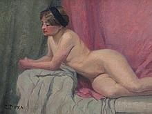 Carl Duxa (1871-1937), Reclining Nude, Austria, around 1920