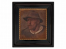 Albin Egger-Lienz (1868-1926), 'Haspinger' Peasant Head, 1909