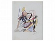 Alexander Archipenko, Cubist Drawing, around 1920