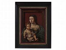 Jan Gossaert Follower, Painting 'Virgin and Child', 16th C