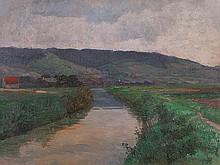 Alexander D. Goltz (1857-1944), Painting 'Tullnerfeld', 1920